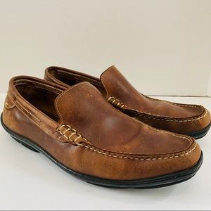 J&M Leather Moccasin Driving Loafers